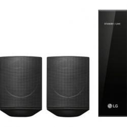 $80 off LG - 120W Wireless Surround Sound Speaker Kit - works with select LG soundbar black