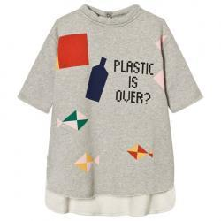 Bobo Choses Grey Plastic is Over? Pocket Dress