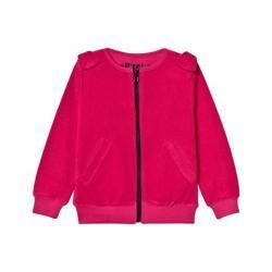 The Brand Pink Bow Zip Top
