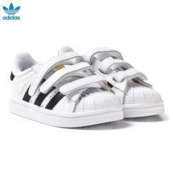 adidas Originals White and Black Infant Superstar Trainers
