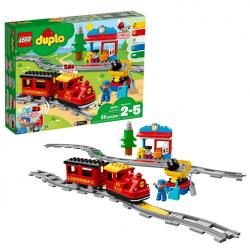LEGO DUPLO Steam Train 10874 Remote-Control Building Blocks Set Helps Toddlers Learn, Great Educat
