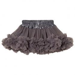 DOLLY by Le Petit Tom Dark Grey Frilly Skirt