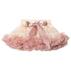 DOLLY by Le Petit Tom Dusty Pink and Cream Brigitte Bardot Pettiskirt