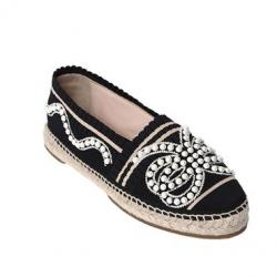 FENDI 30MM EMBELLISHED KNIT ESPADRILLES