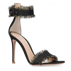 Gianvito Rossi Frayed Lola Sandals 100
