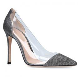 Gianvito Rossi Metallic Plexi Pumps 105