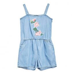 SLEEVELESS CHAMBRAY ROMPER (7-16)