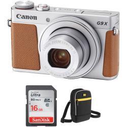 Canon PowerShot G9 X Mark II Digital Camera with Free Accessory Kit (Silver)