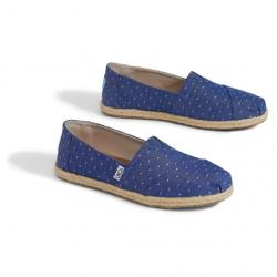 IMPERIAL BLUE DOT CHAMBRAY WOMEN'S ESPADRILLES